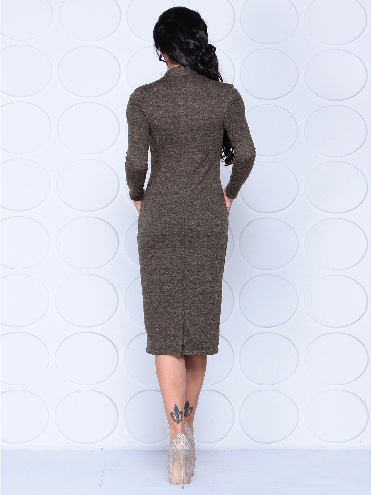 Платье коричневое | 3962331 | фото 2