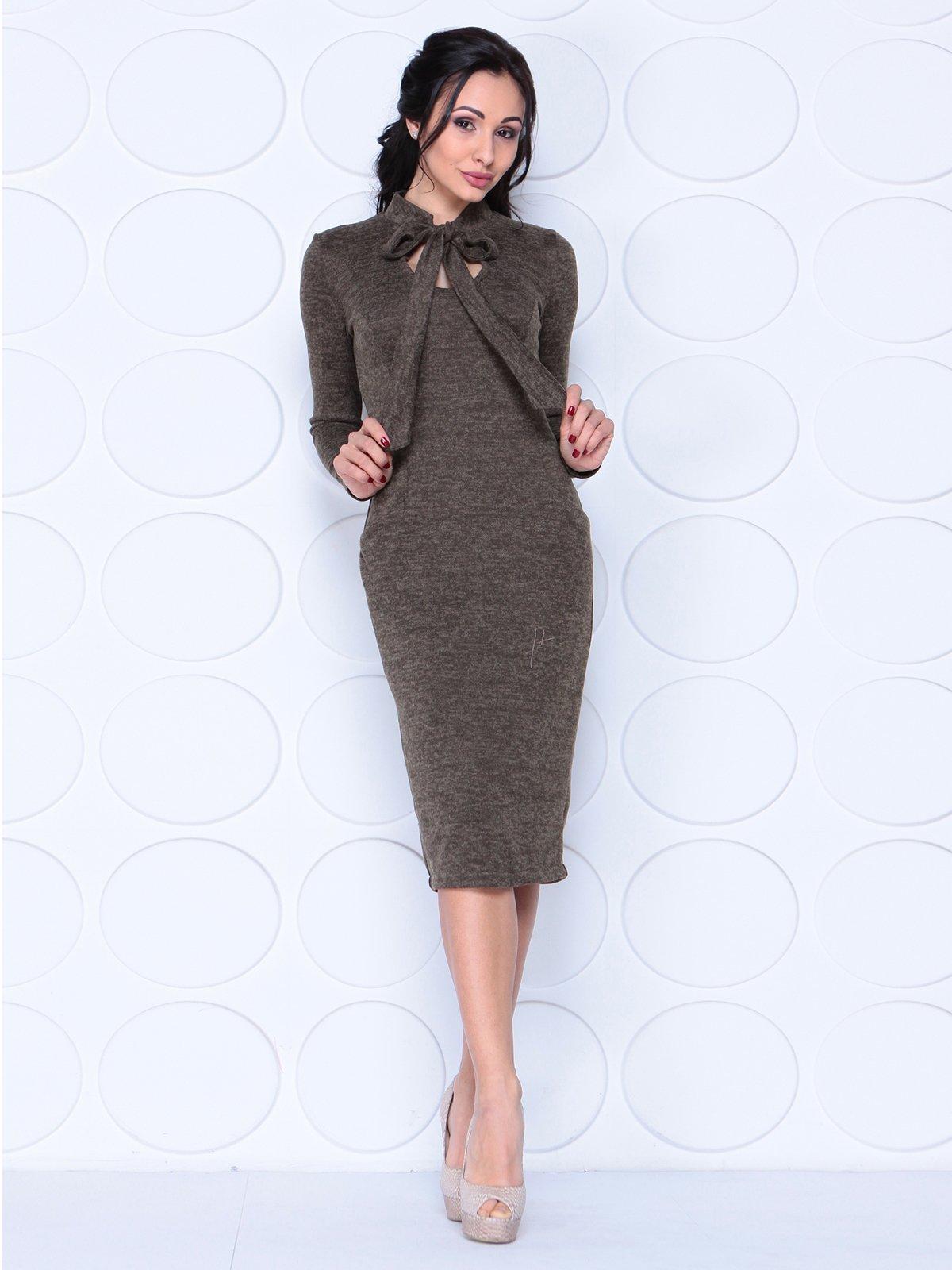 Платье коричневое | 3962331 | фото 3