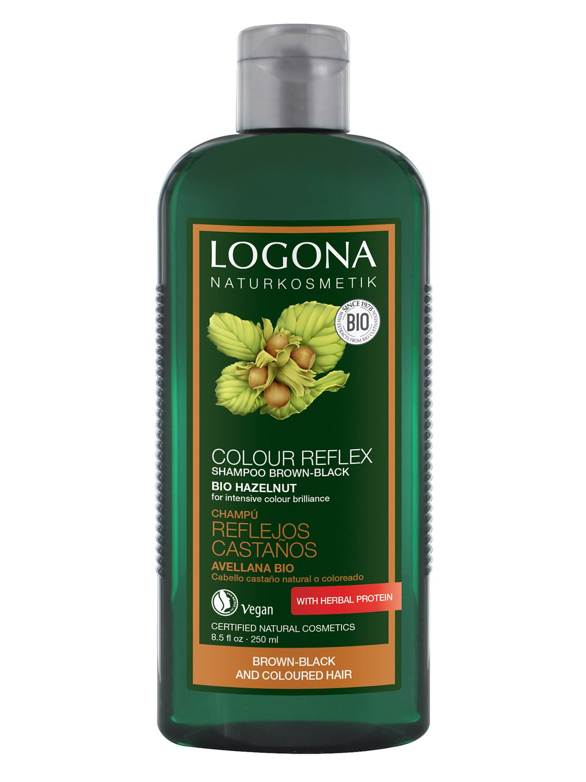 Біо-Шампунь для фарбованого темно-коричневого волосся «Горіх» (250 мл) | 3967176