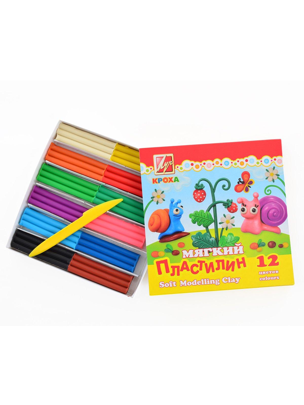 Пластилін м'який «Кроха» (12 кольорів) | 3906670