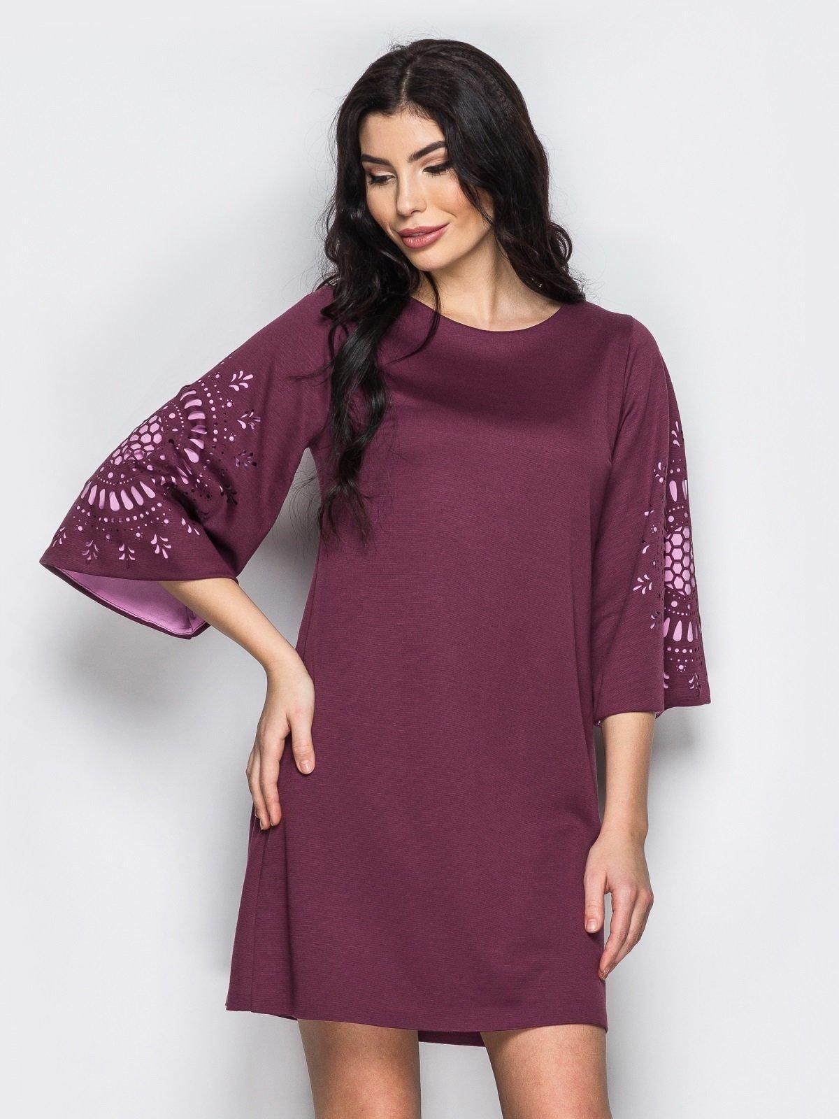 Платье бордовое | 3969984