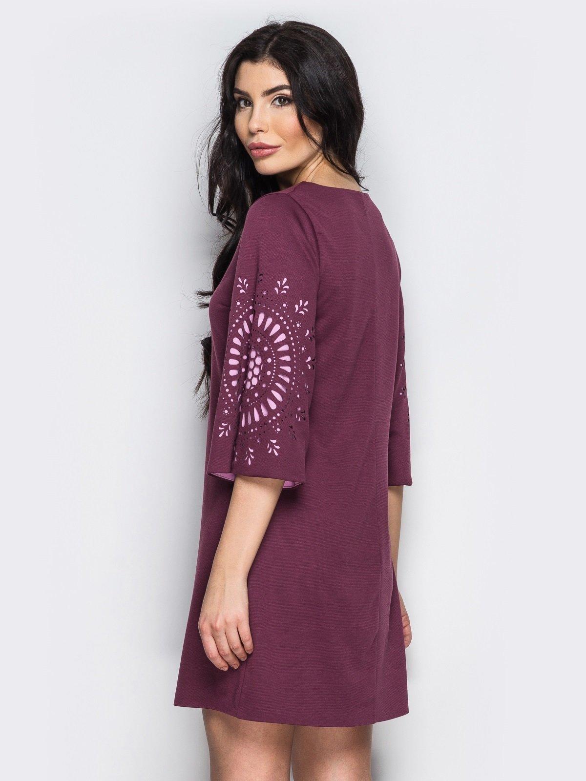 Платье бордовое | 3969984 | фото 2