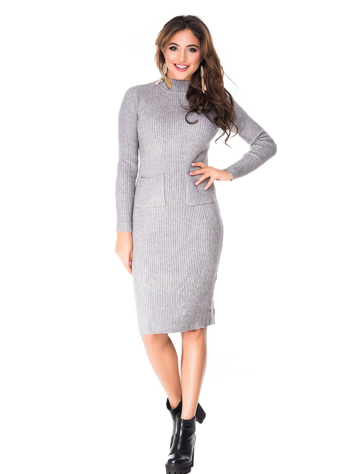 Платье серое | 3977512