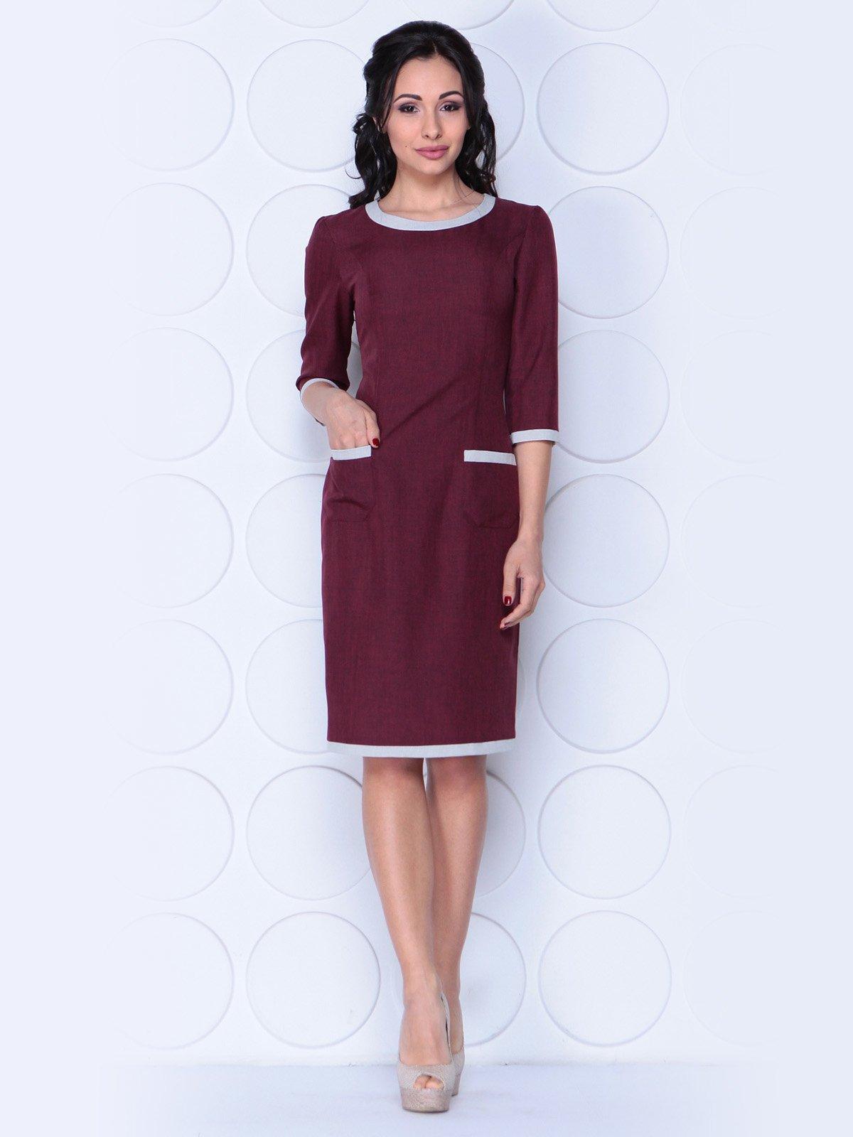 Платье сливового цвета | 3983835