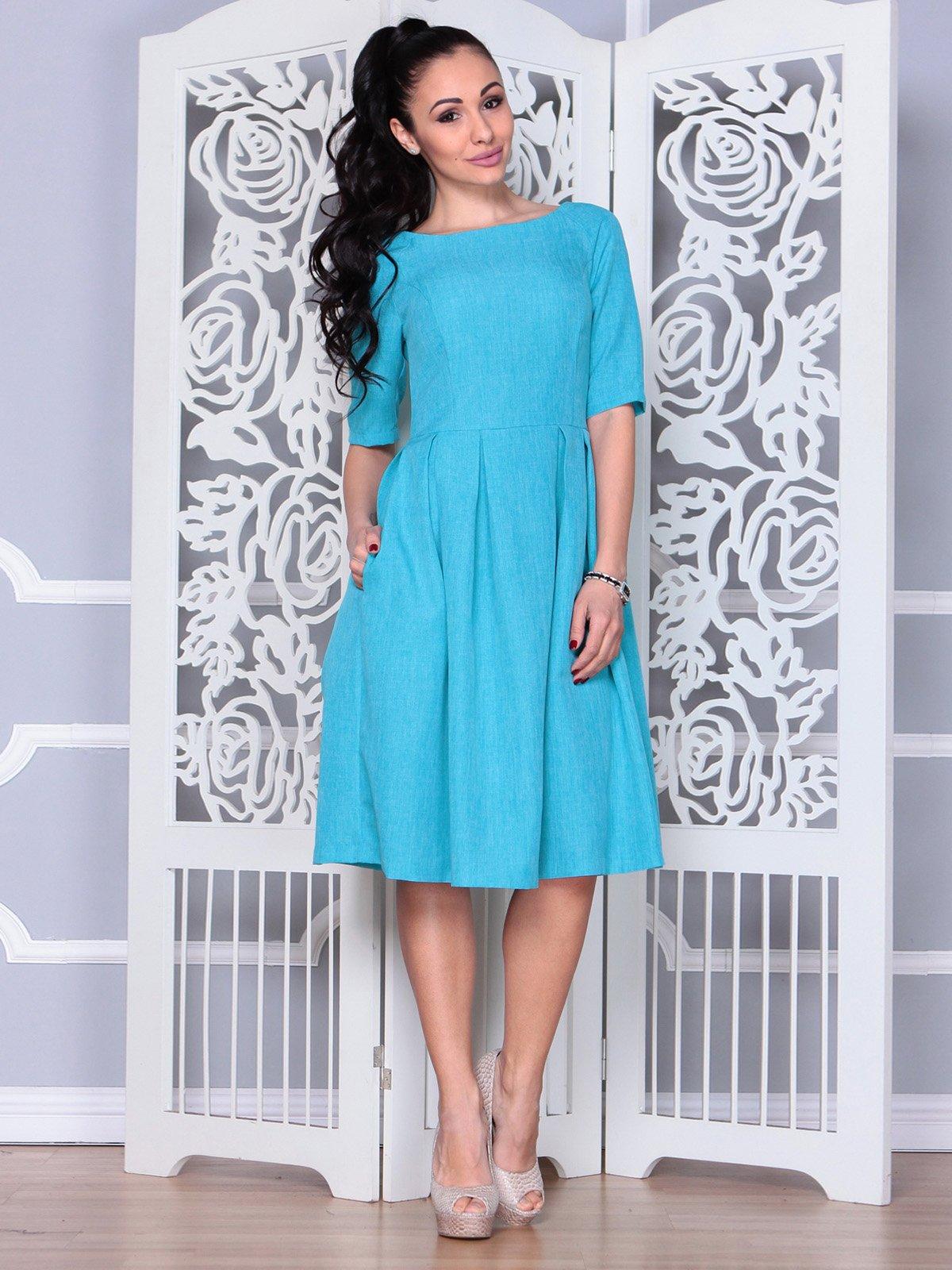 Платье ментолового цвета   3983838