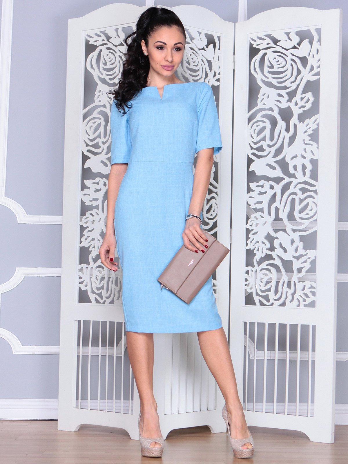 Платье голубое | 3983843