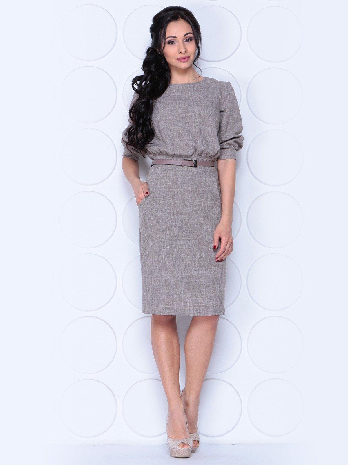 Платье цвета мокко | 3983852