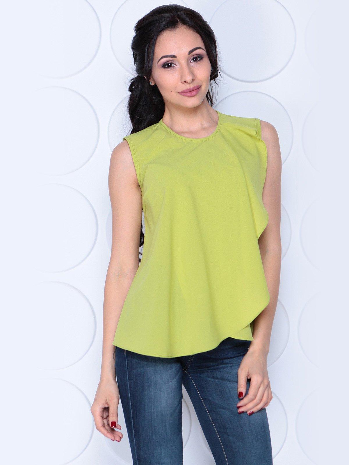Блуза яблочного цвета | 3983855 | фото 3