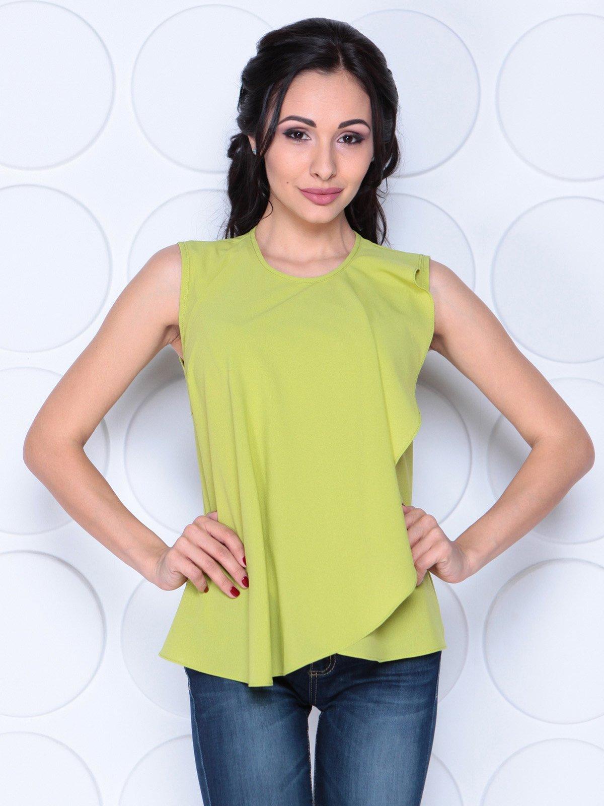 Блуза яблочного цвета | 3983855 | фото 4