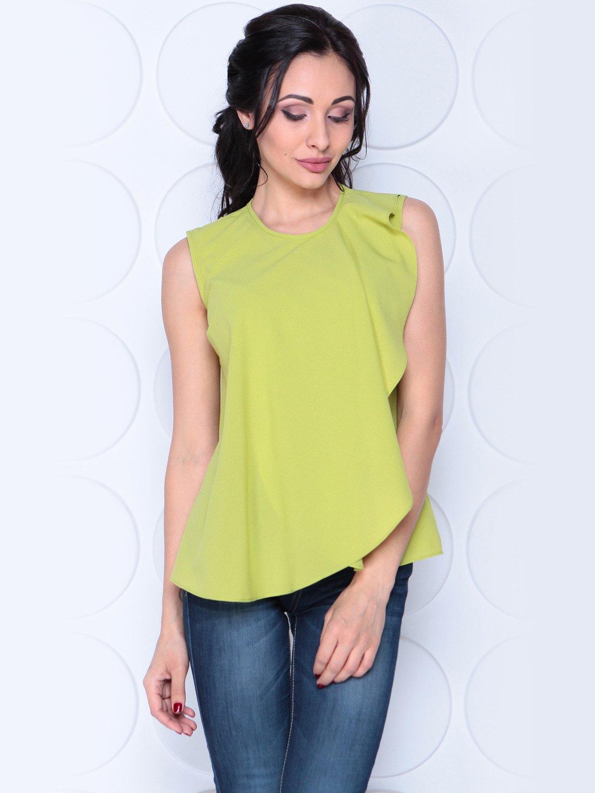 Блуза яблочного цвета | 3983855 | фото 5