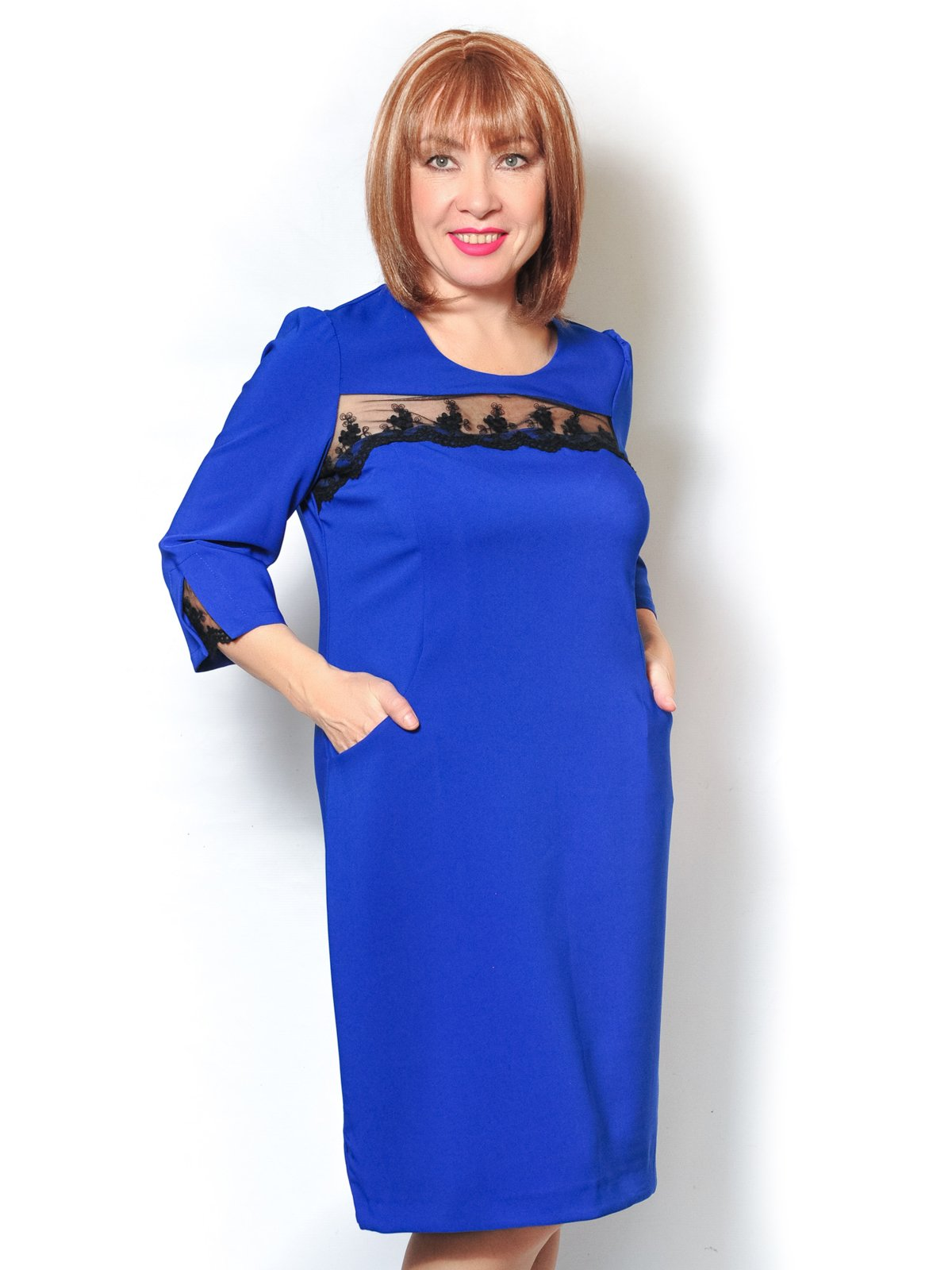 Платье цвета электрик | 3992115