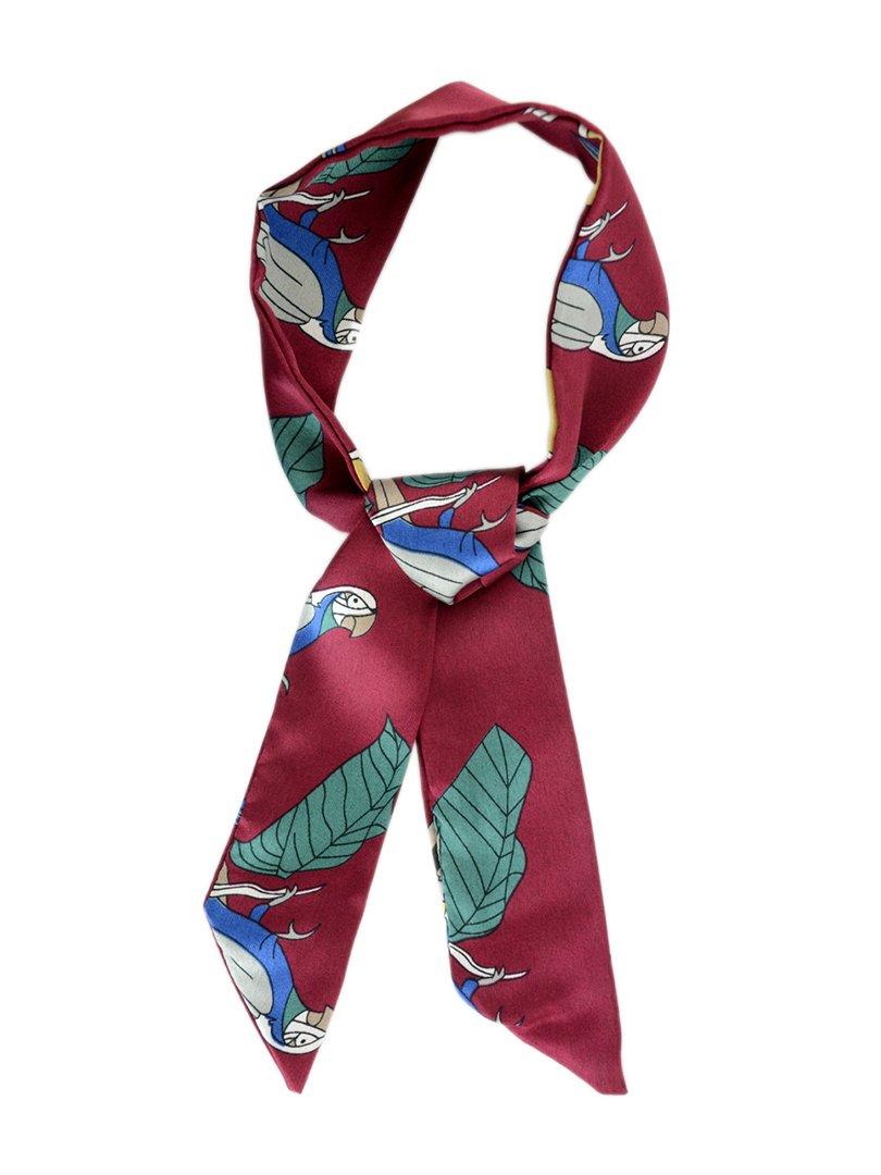 Шарф-краватка бордовий | 3989506