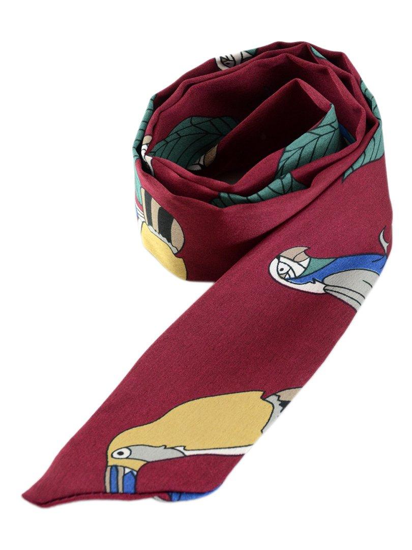 Шарф-краватка бордовий | 3989506 | фото 3