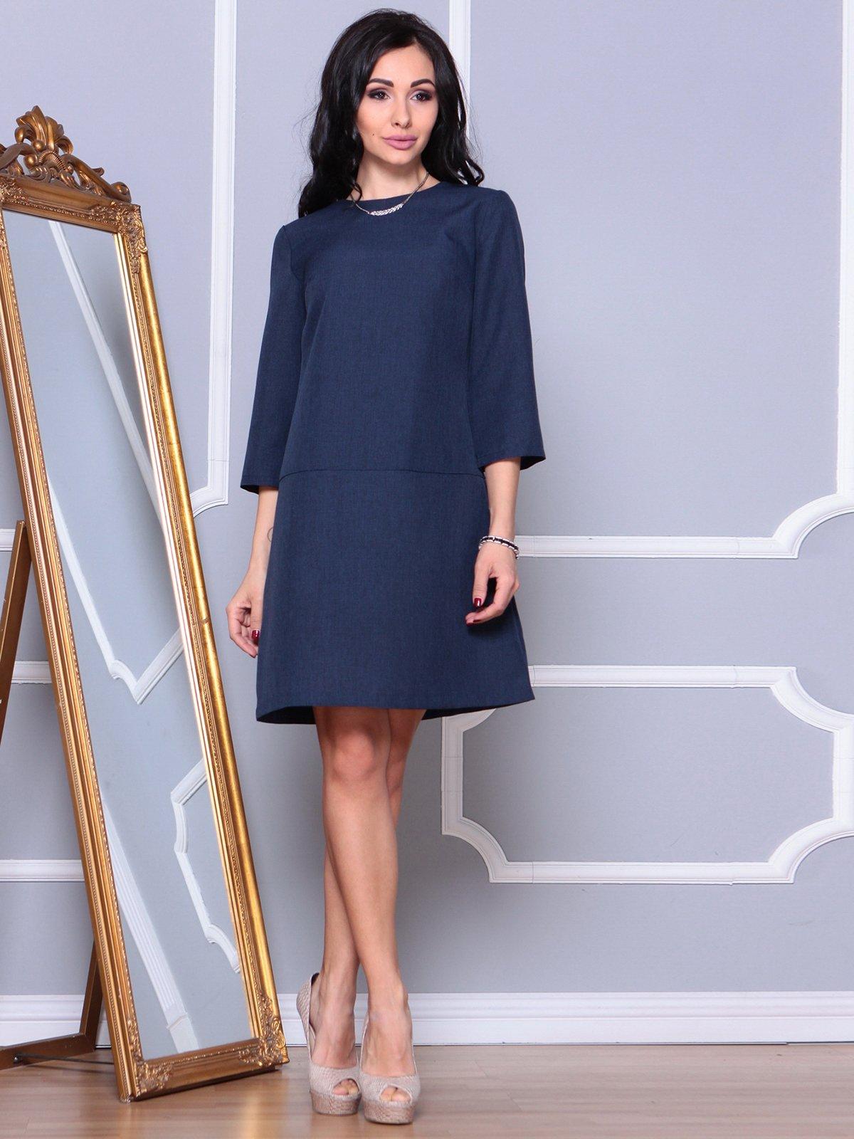 Платье темно-синее | 3993193