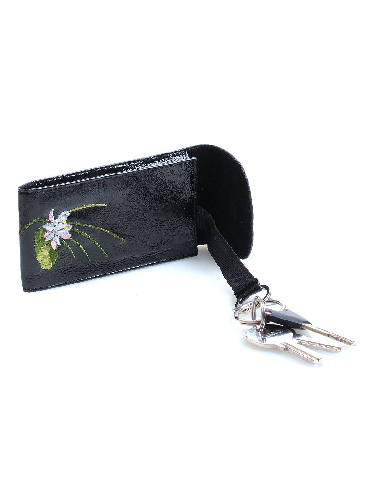 Ключница черная с вышивкой   3997139   фото 2