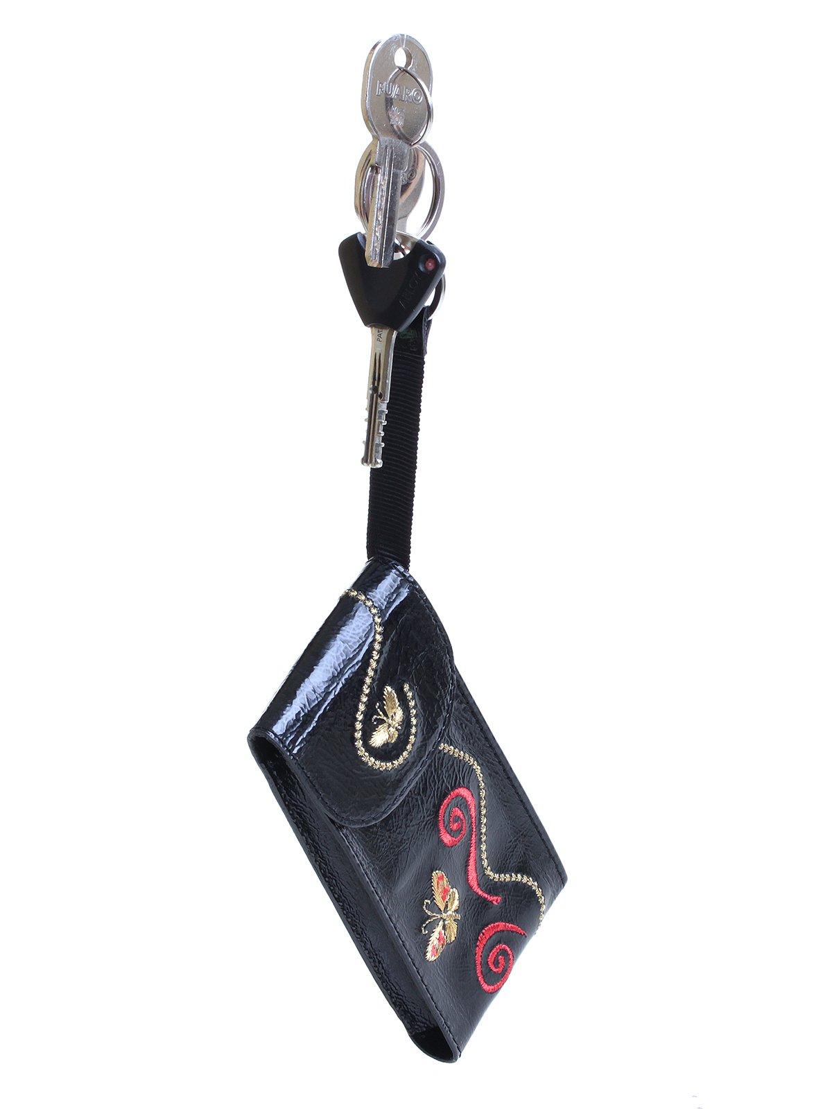 Ключница черная с вышивкой | 3997141 | фото 6