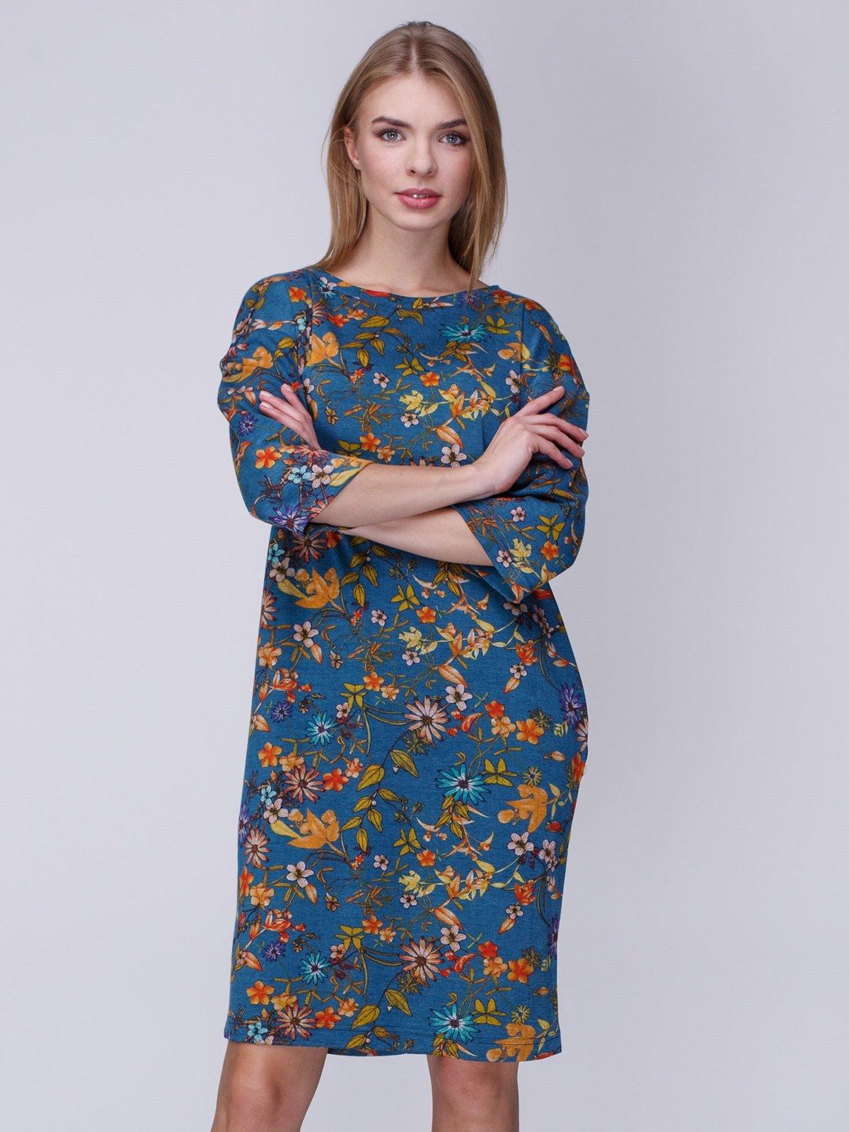 Платье в цветочный принт | 3996271