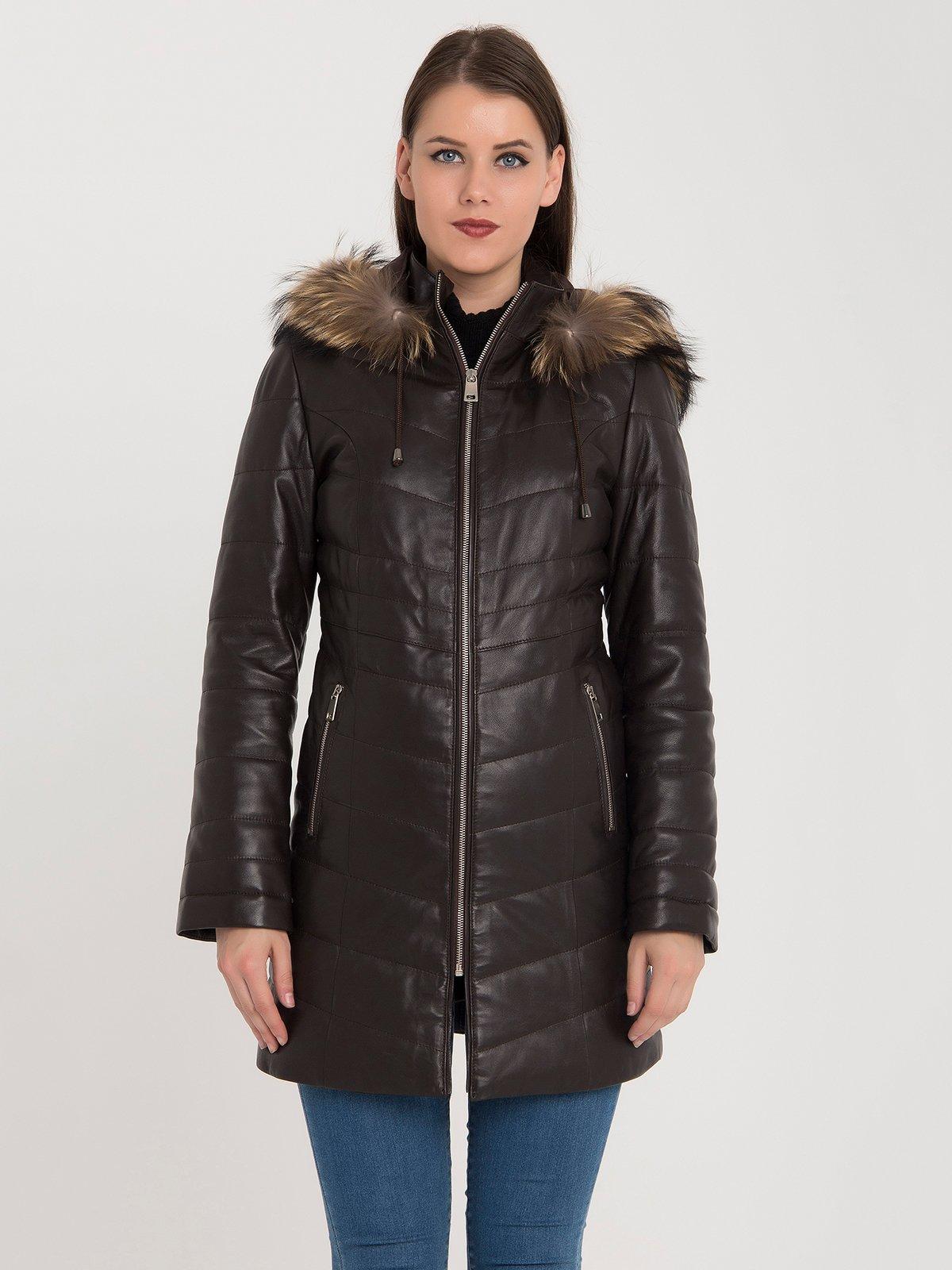 Пальто коричневе | 3993085 | фото 2