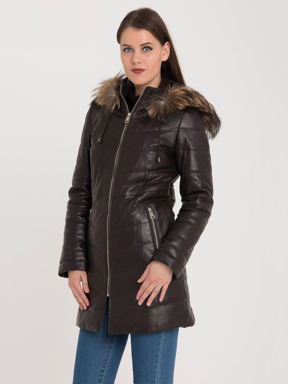 Пальто коричневе | 3993085 | фото 4