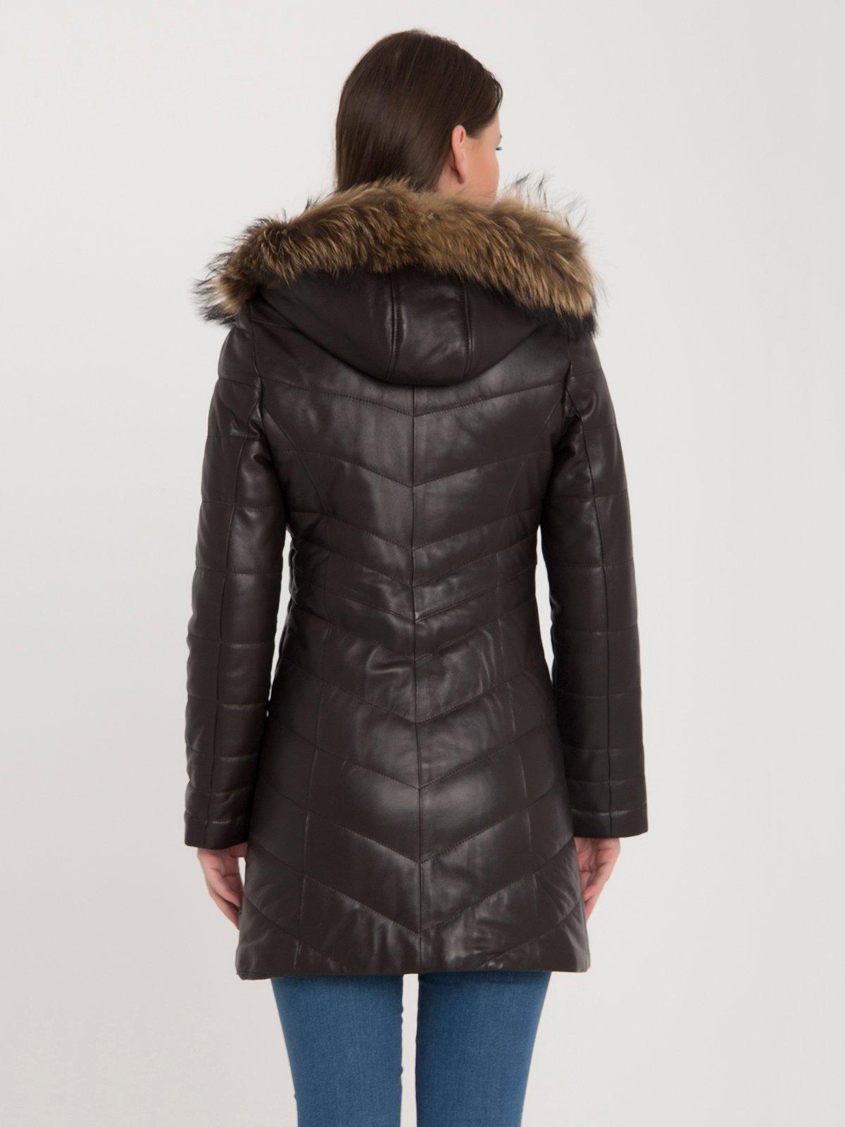 Пальто коричневе | 3993085 | фото 5