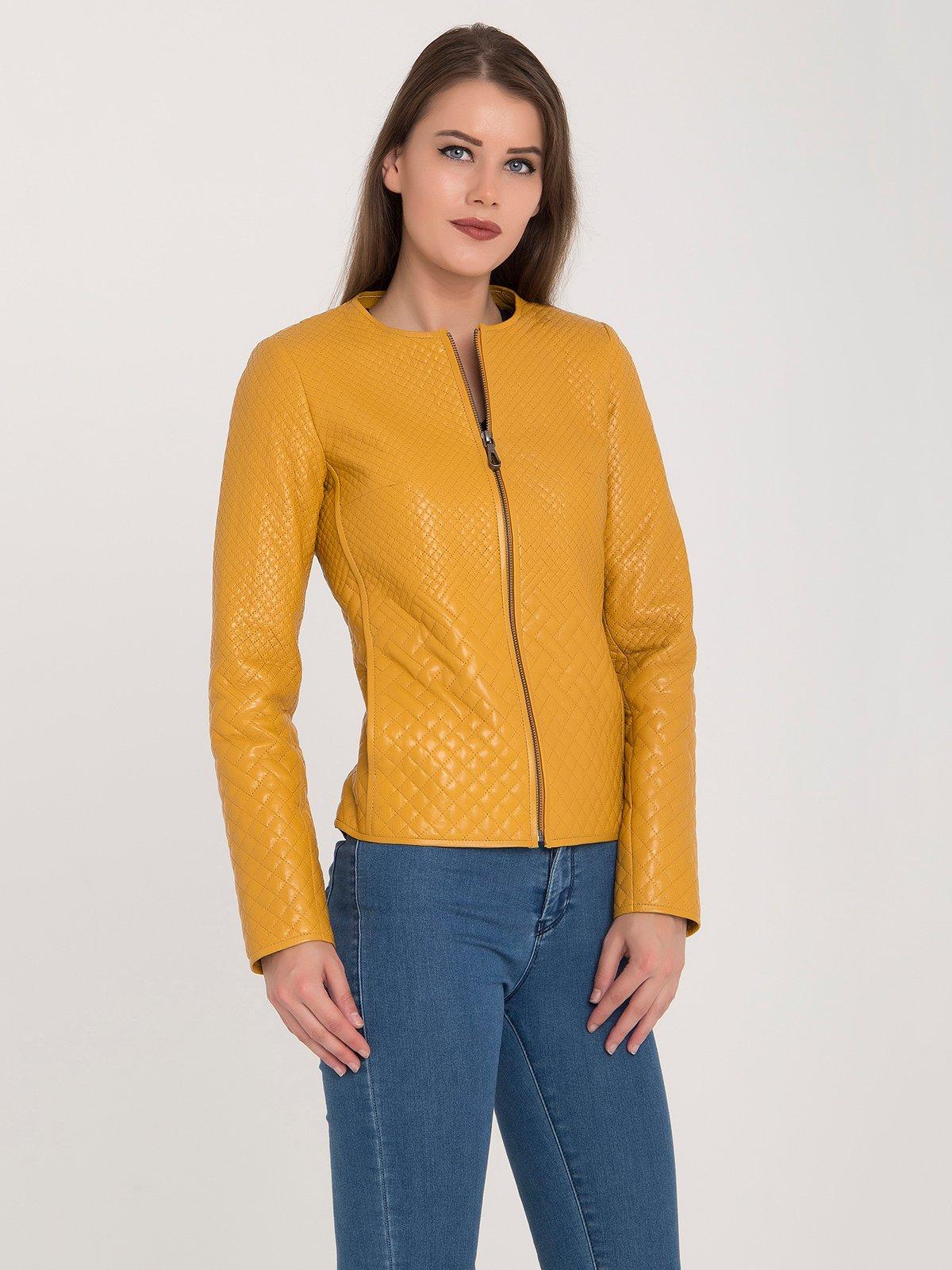 Куртка желтая | 3993145 | фото 4