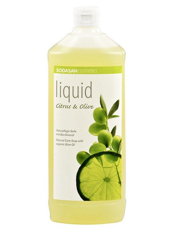 Мило органічне Citrus-Olive рідке, бактерицидну, з цитрусовим і оливковою олією (1 л) | 4002205