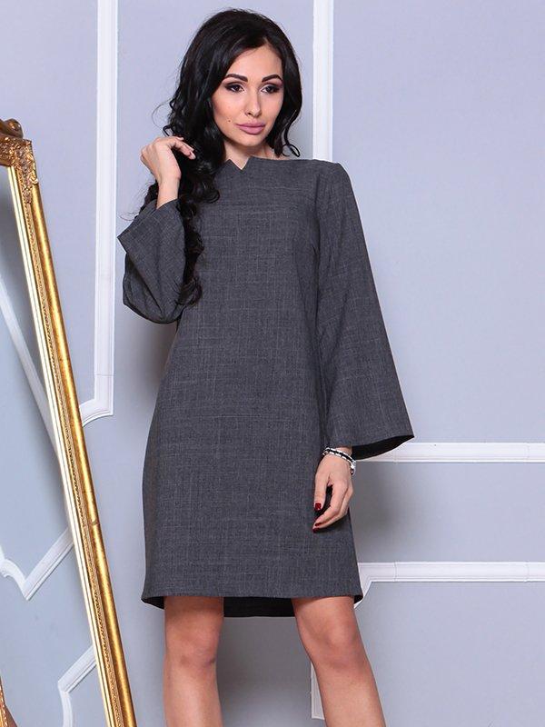 Платье графитового цвета | 4002290