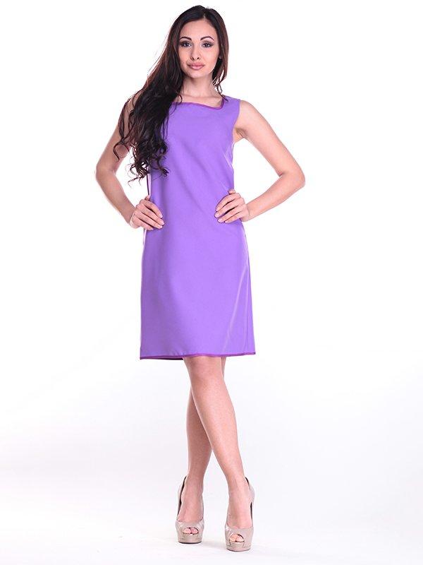 Платье-сарафан светло-фиалкового цвета   4002293