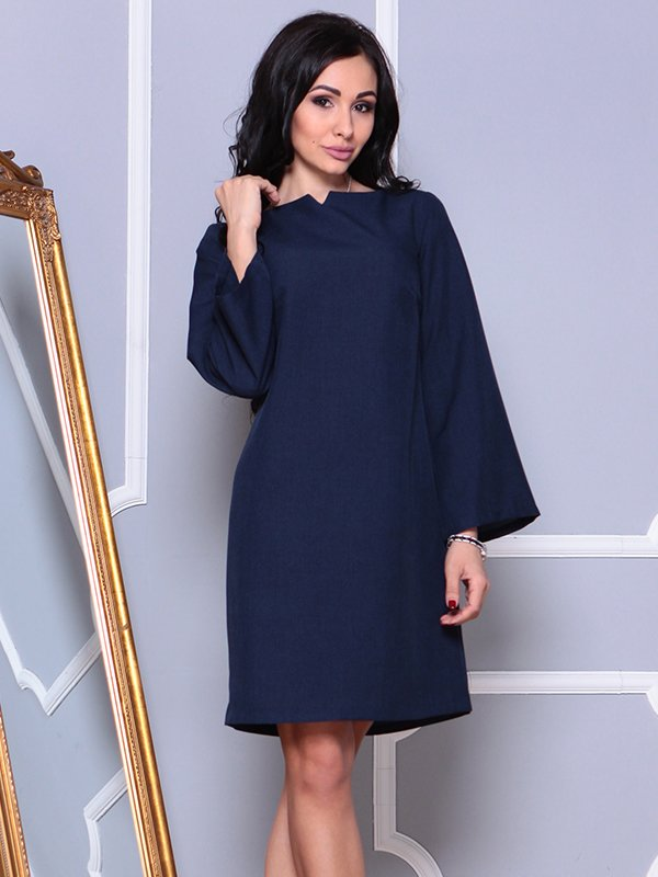 Платье темно-синее | 4002297