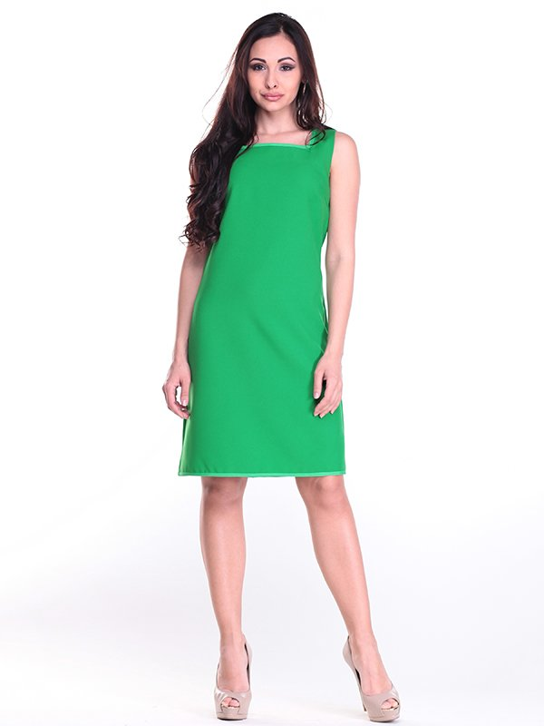 Платье-сарафан зеленое | 4002303