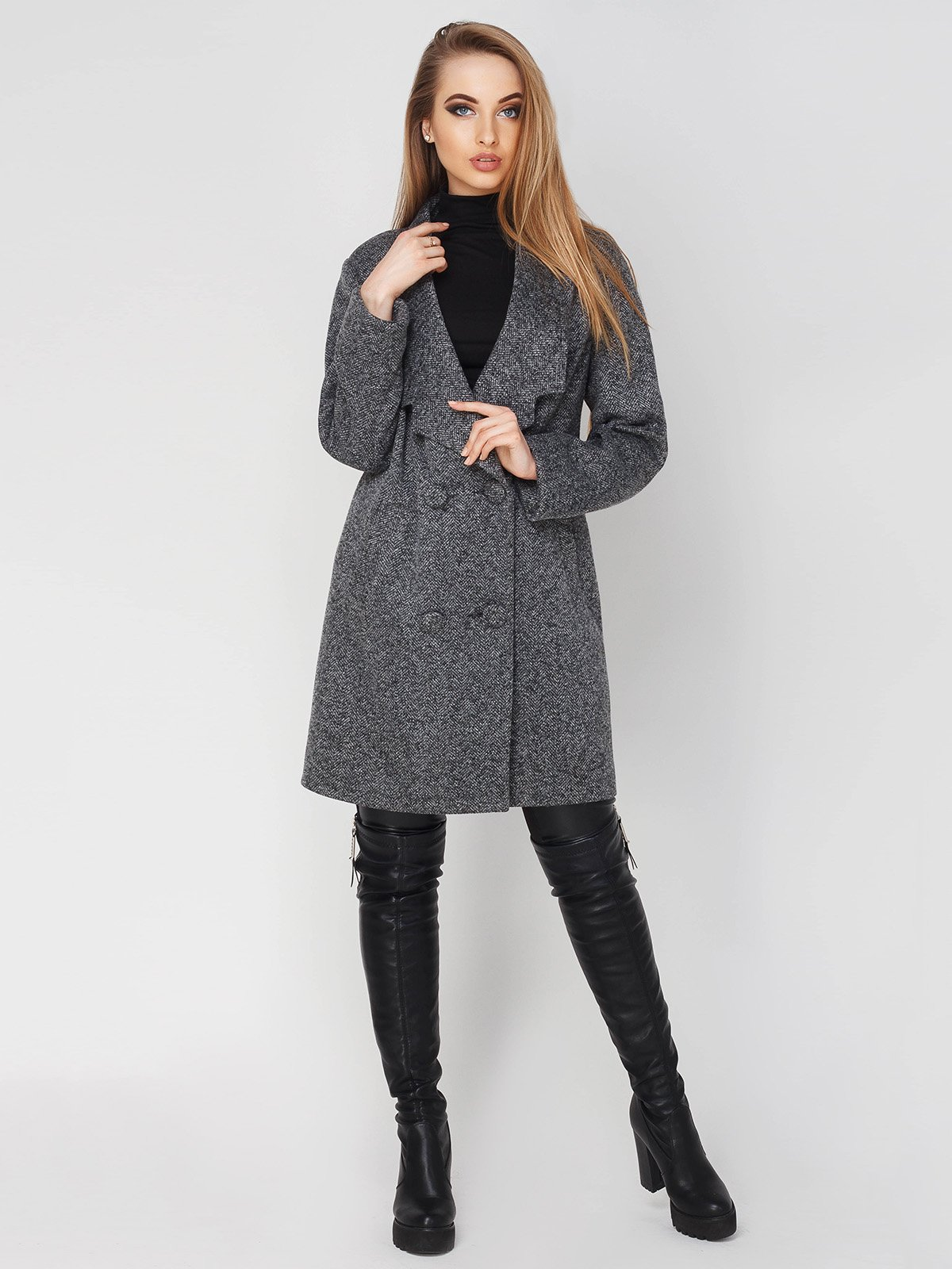Пальто сіре | 4003447