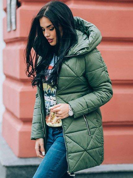 Пальто зеленое | 4003403