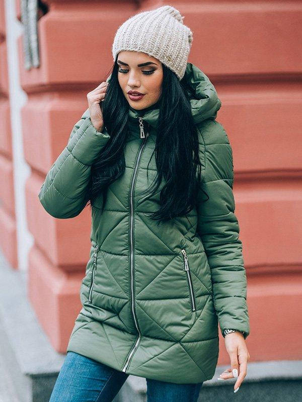 Пальто зеленое | 4003403 | фото 2