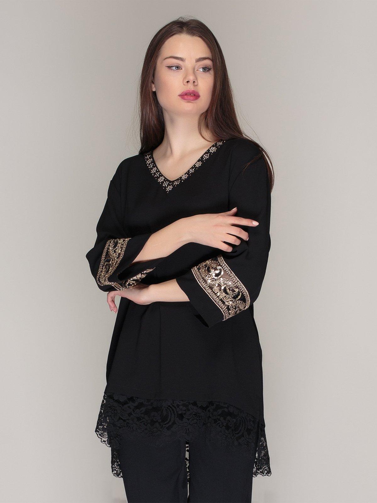 Блуза черная | 4009646