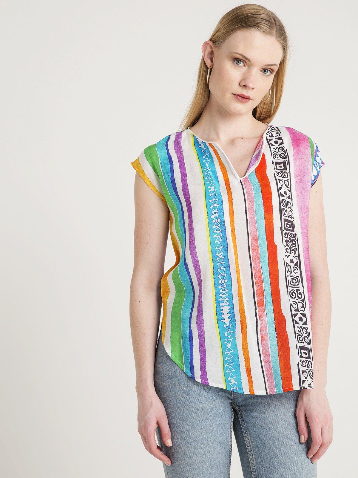 Блуза в полоску | 4012134