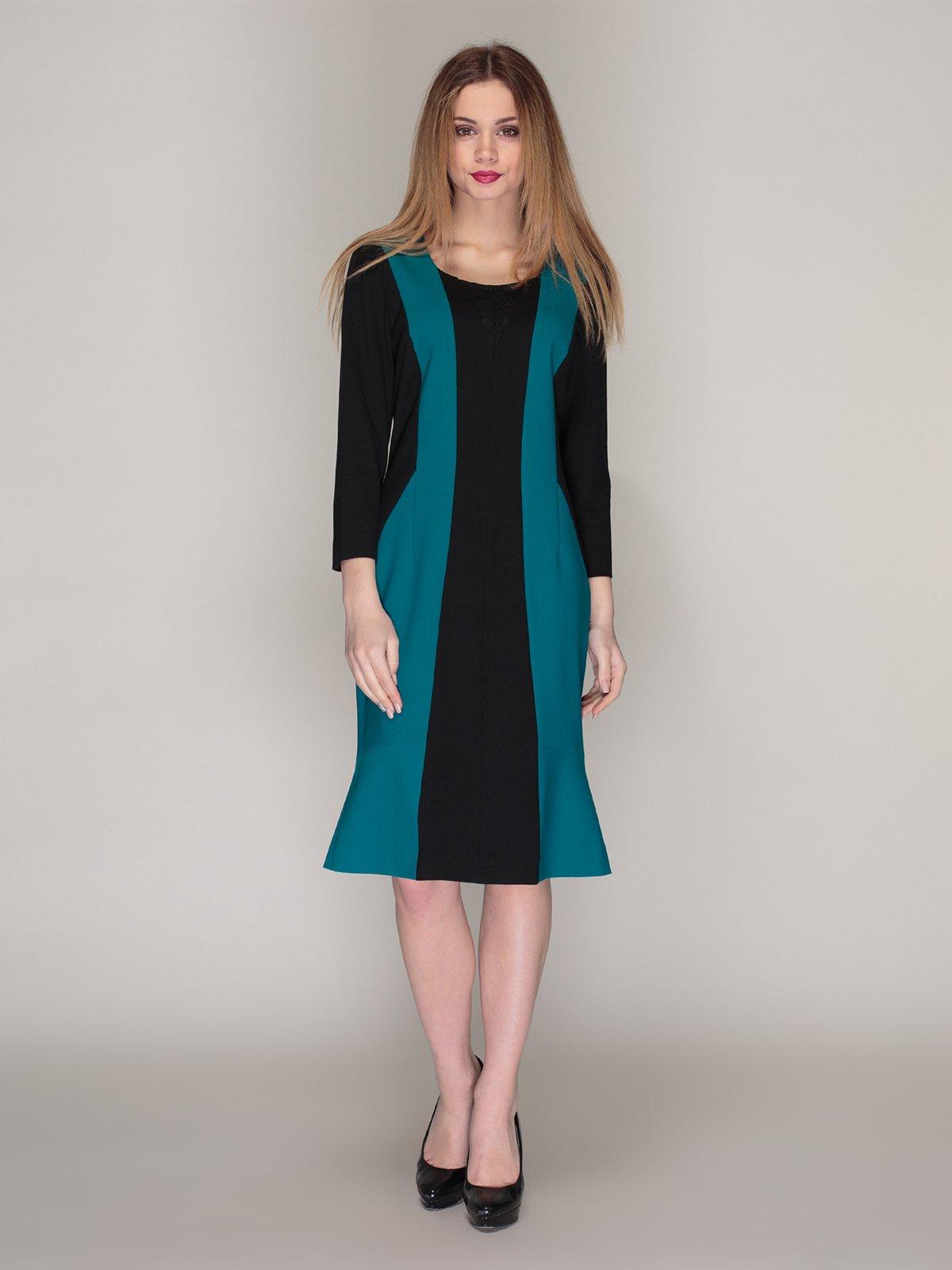 Платье двухцветное | 4009786