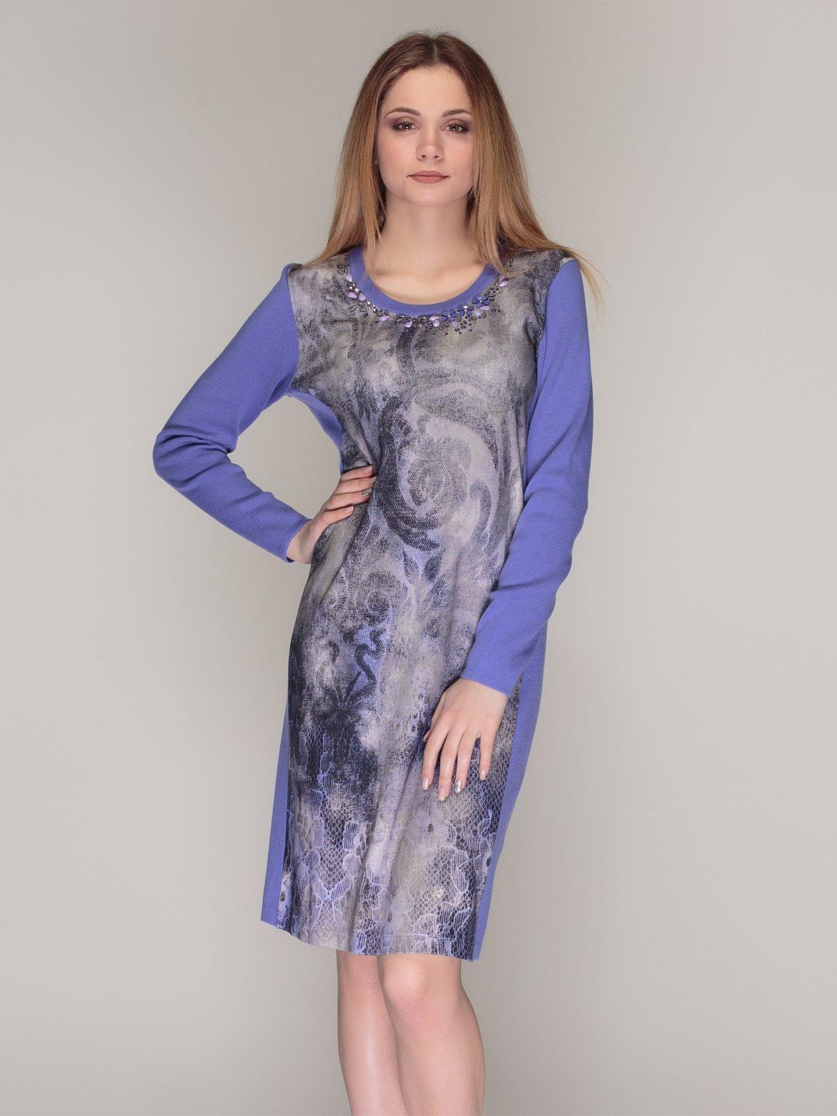 Платье фиолетовое в принт | 4009782