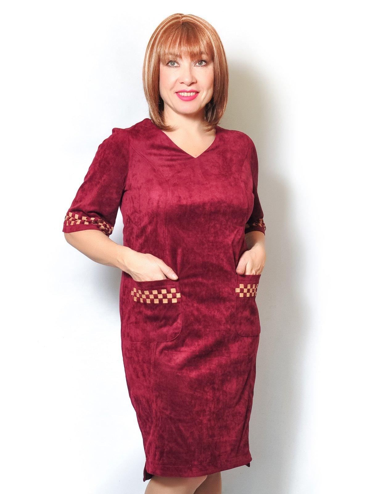 Платье бордовое | 4017005