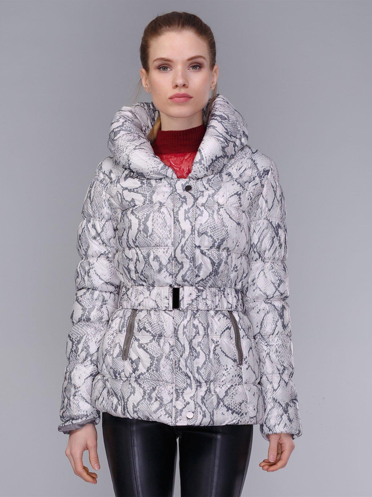 Куртка сіра в анімалістичний принт | 4009007