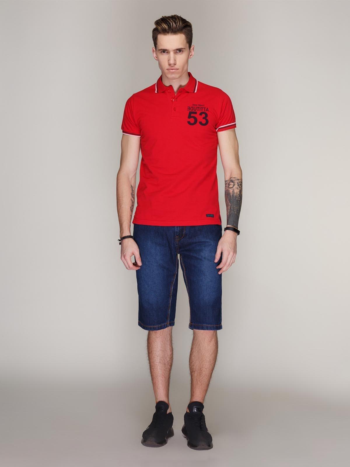 Бриджі сині джинсові з ефектом трохи потертих | 1899060