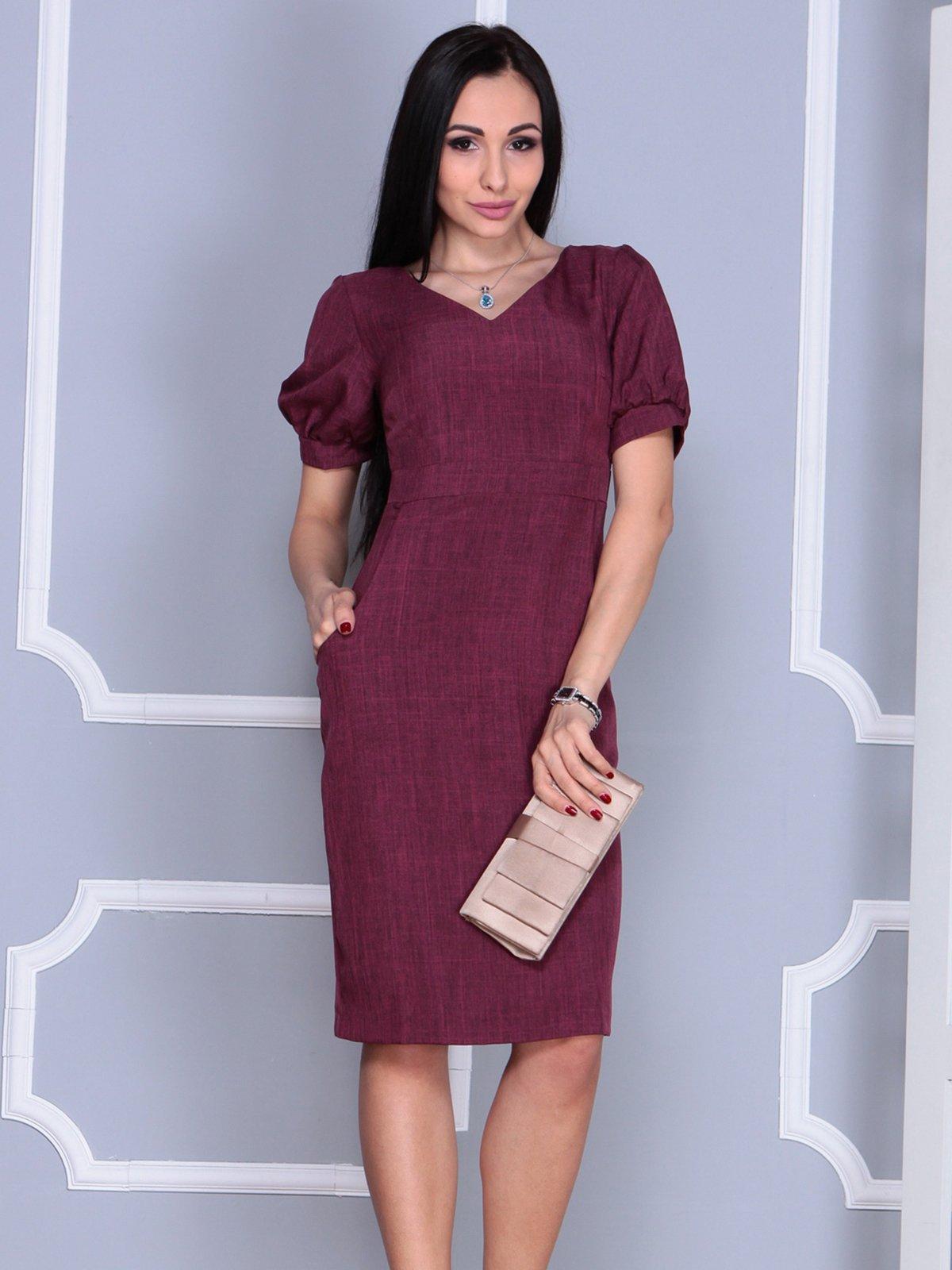 Платье сливового цвета | 4028069 | фото 2