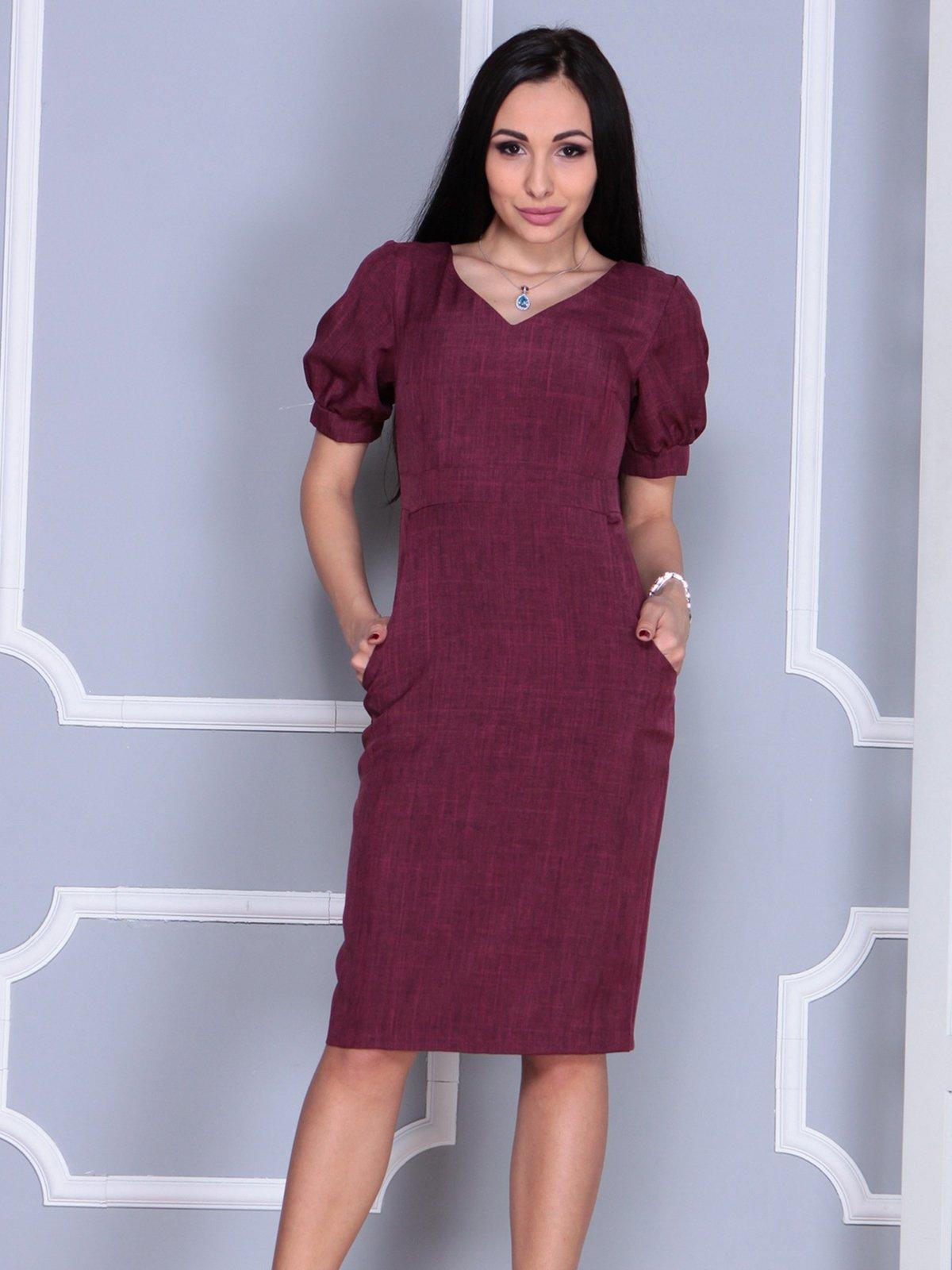 Платье сливового цвета | 4028069 | фото 3