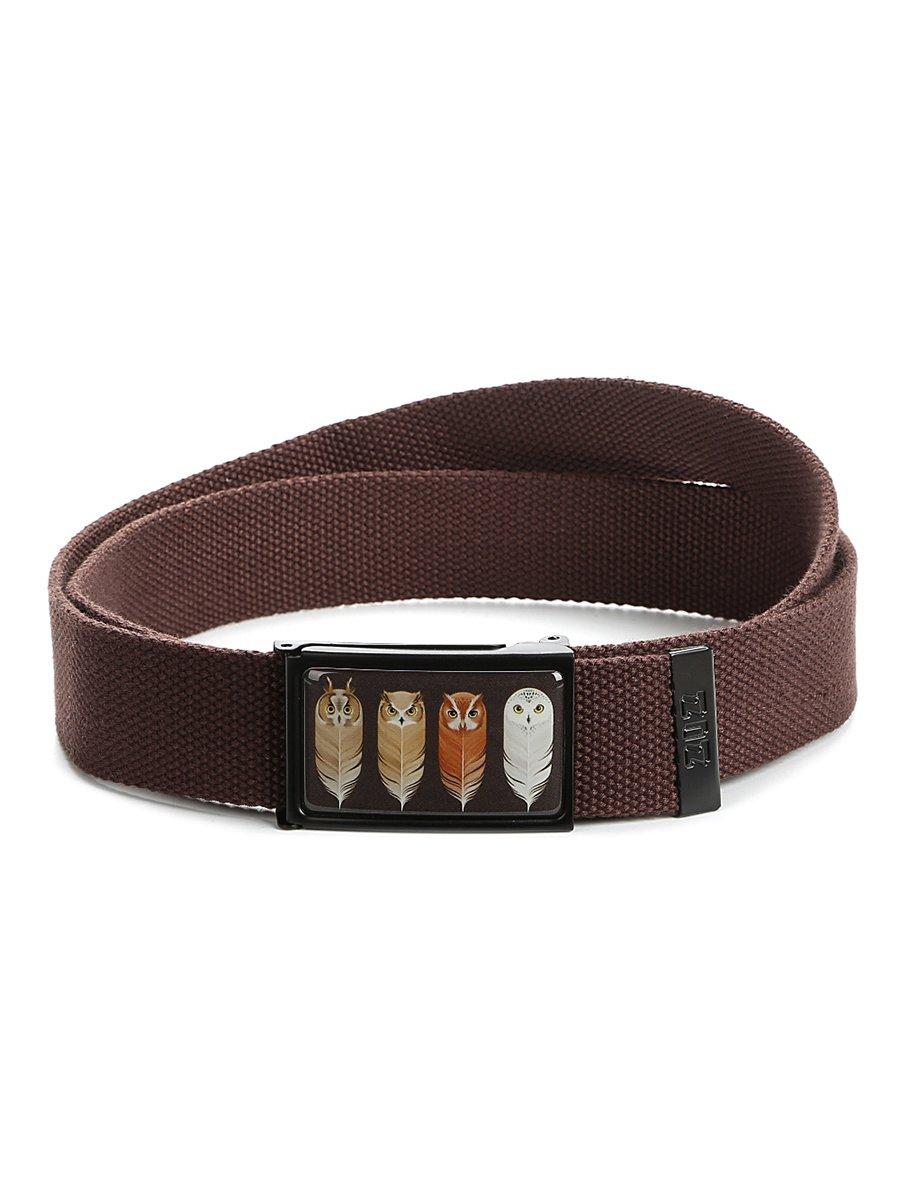 Ремень-стропа коричневый с принтом | 4034365