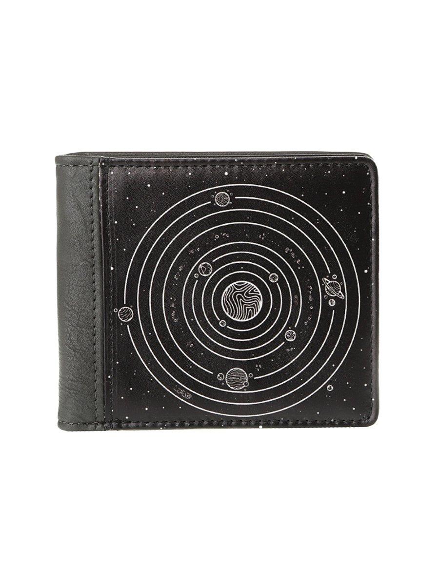 Кошелек серо-черный с принтом   4034428
