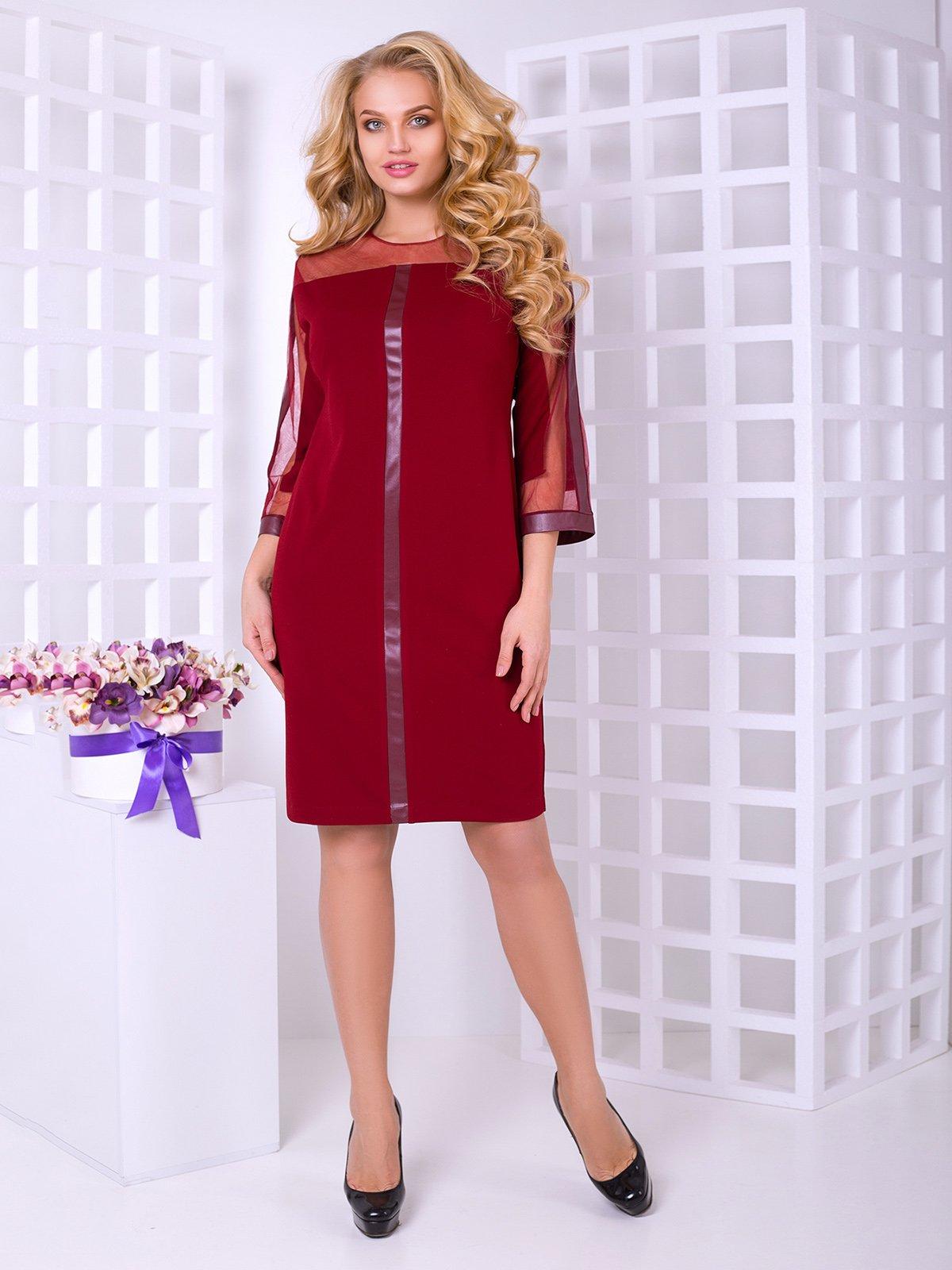 Платье бордовое | 4038254