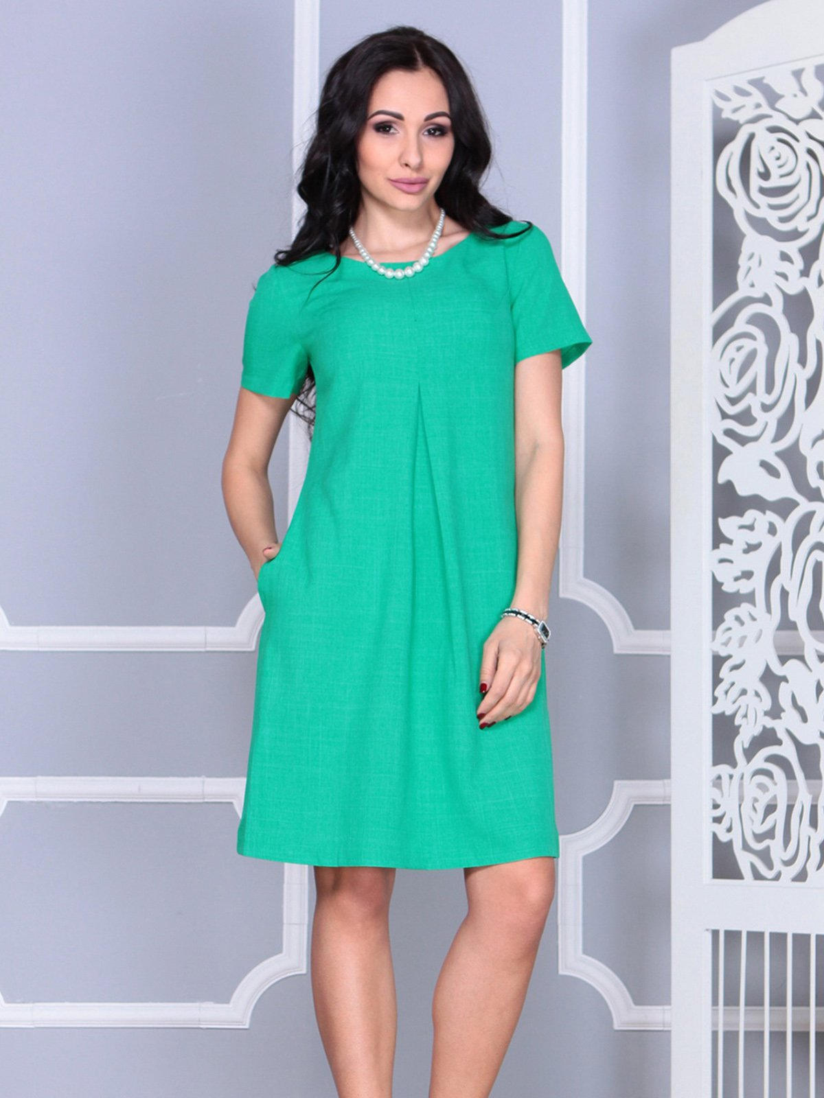 Платье зеленое | 4021159