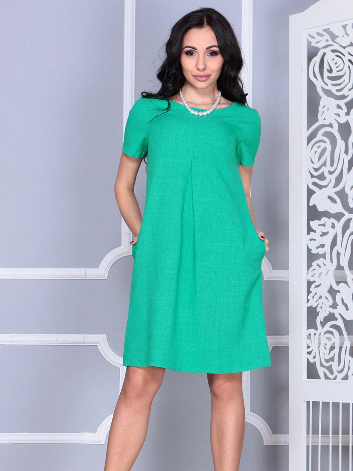 Платье зеленое | 4021159 | фото 4