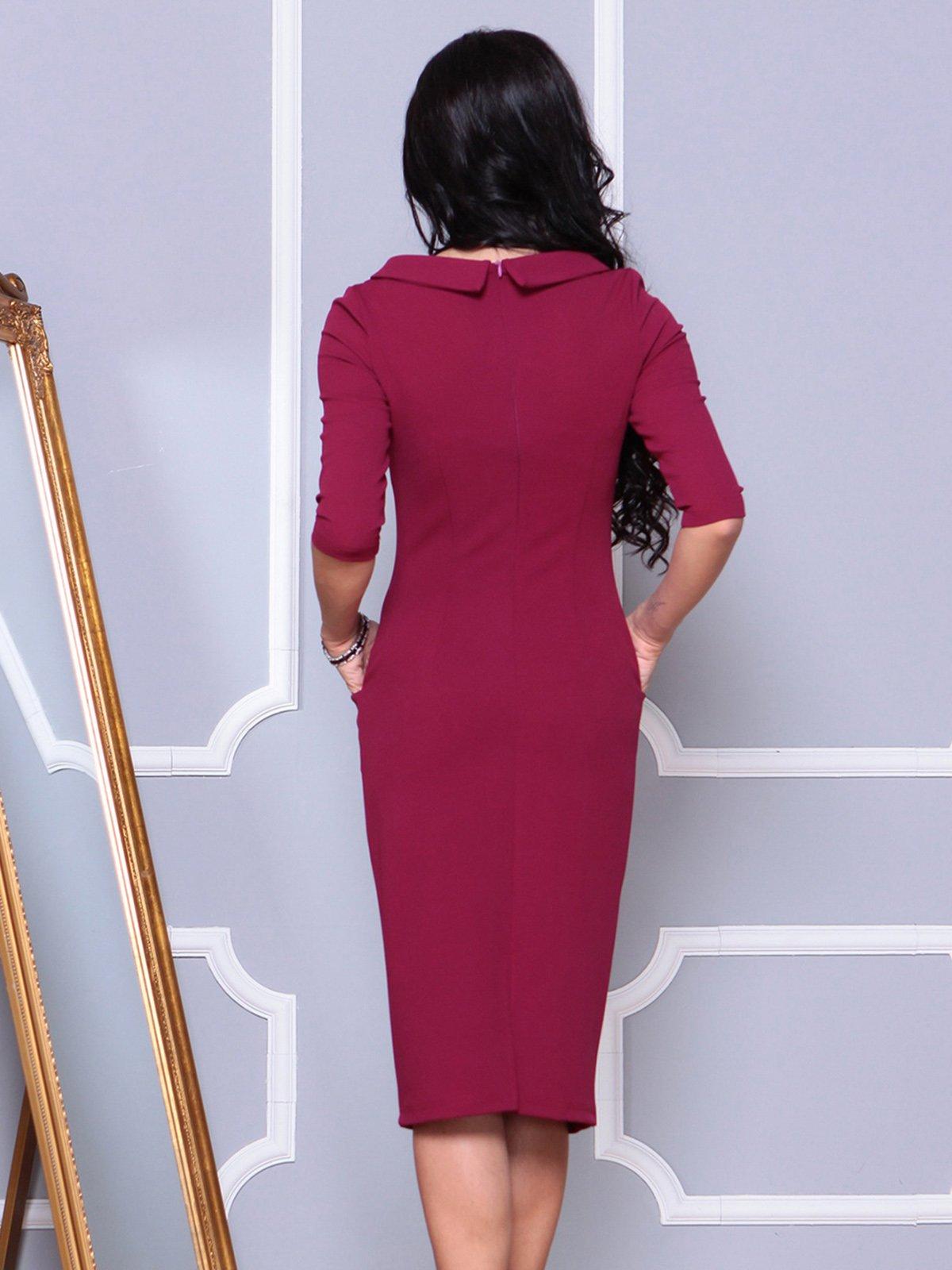 Платье малинового цвета | 4021175 | фото 2