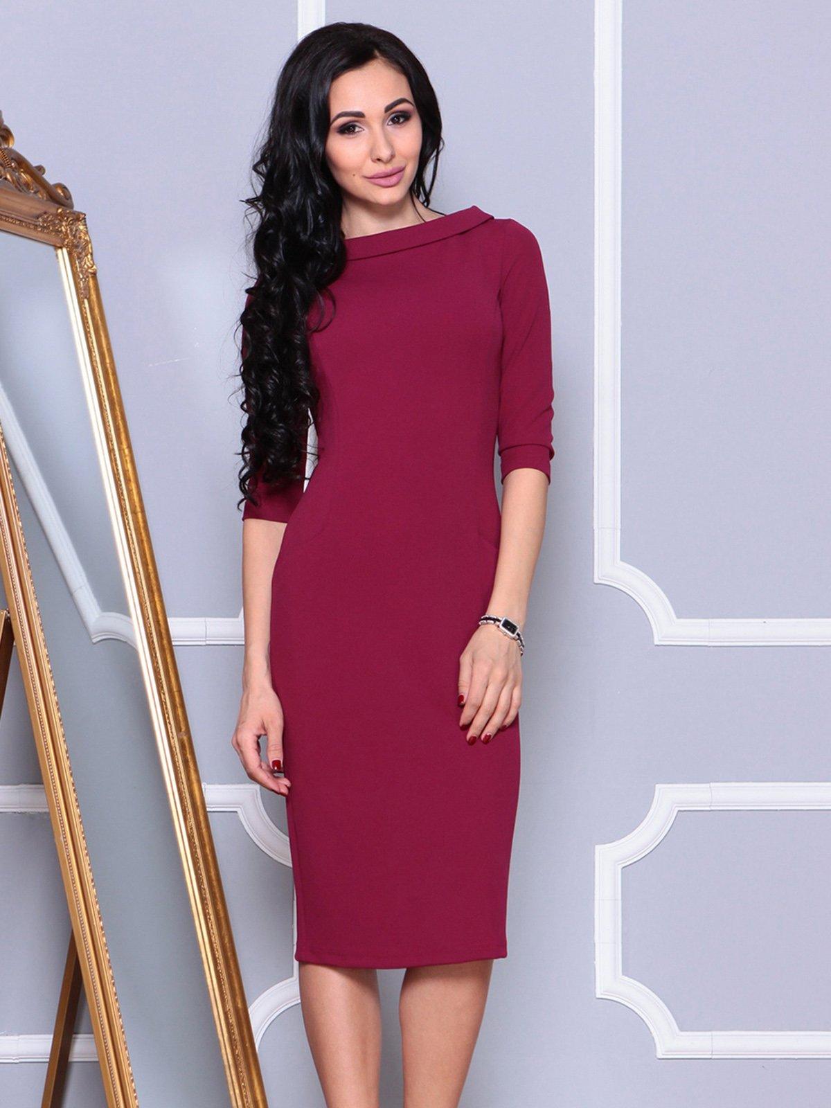 Платье малинового цвета | 4021175 | фото 3