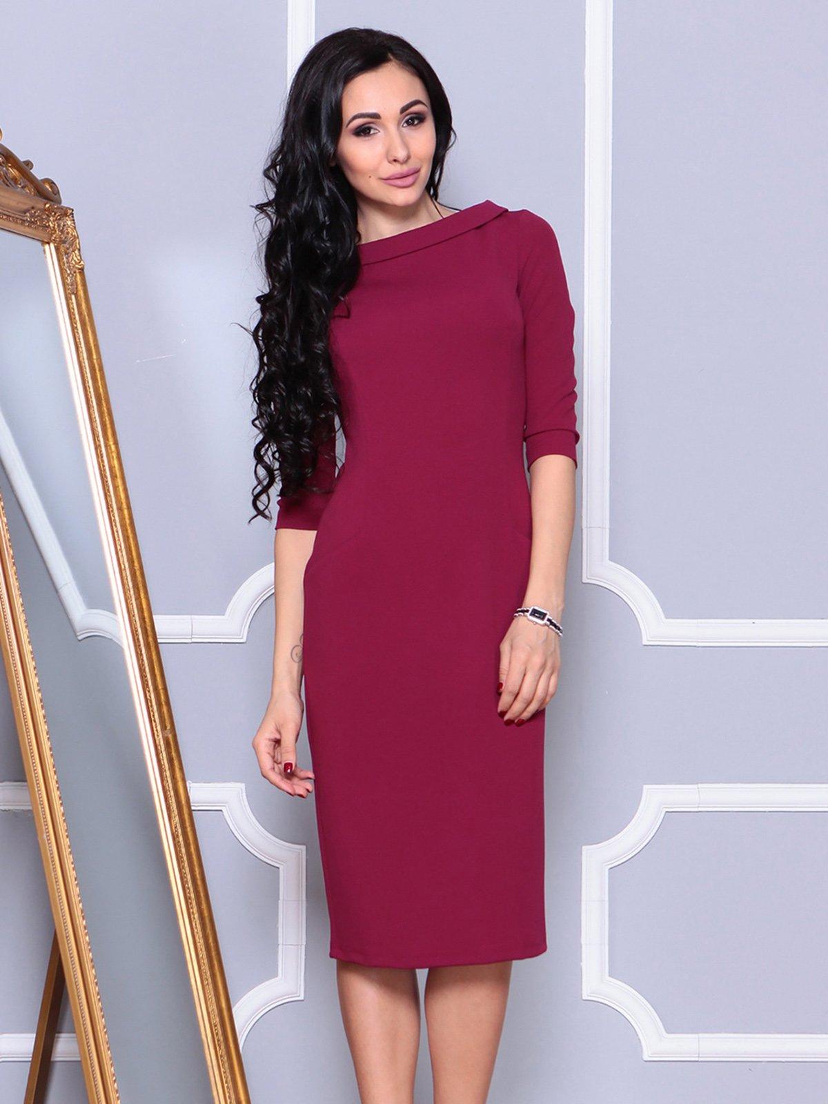 Платье малинового цвета | 4021175 | фото 4